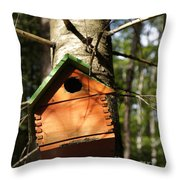 Birdhouse By Line Gagne Throw Pillow