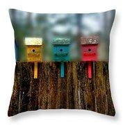 Birdhouse Vignette Throw Pillow