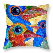Birds 736 - Marucii Throw Pillow