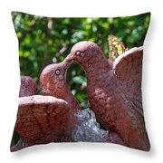 Birds And Butterfly Throw Pillow