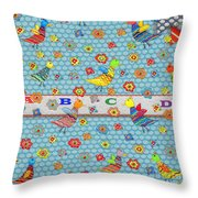 Birds And Flowers For Children Throw Pillow