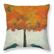 Birds And Maple Throw Pillow