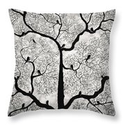 Birds And Trees Throw Pillow