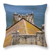 Birds At Alcatraz Throw Pillow by John McGraw