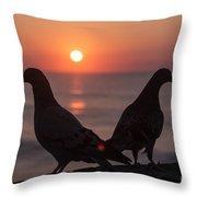 Birds At Sunrise Throw Pillow by Nelson Watkins