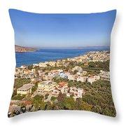 Birds Eye View Of Crete Greece Throw Pillow