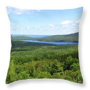 Bird's Eye View Of Eagle Lake Throw Pillow