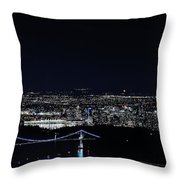 Bird's Eye View Of Vancouver Throw Pillow