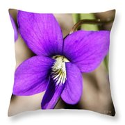 Birds Foot Violet Throw Pillow