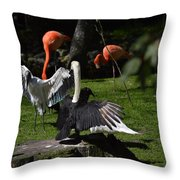 Birds Gather Throw Pillow