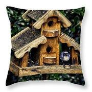 Birds In Oregon Throw Pillow
