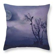 Birds In The Night Throw Pillow