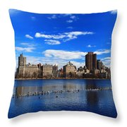 Birds In The Reservior Throw Pillow
