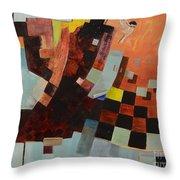 Birds Into The Night Throw Pillow by Paula Marsh