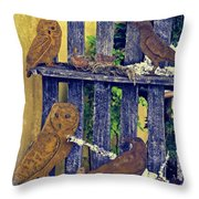 Birds Of A Feather Stay Together Throw Pillow