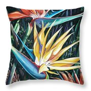 Birds Of Paradise  2   Sold Throw Pillow