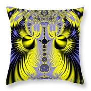 Birds Of Paradise Fractal 160 Throw Pillow