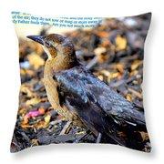Birds Of The Air Throw Pillow