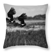 Birds Of The Wetlands V12 Throw Pillow