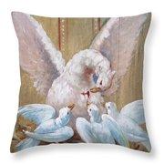 Birds Of Toledo Street Art Throw Pillow