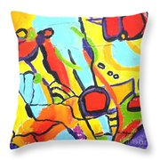 Birds On A Wire Throw Pillow