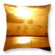 Birds On The Poles Sunrise Throw Pillow
