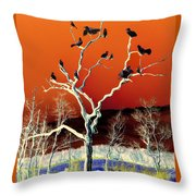 Birds On Tree Throw Pillow