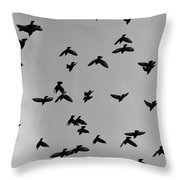 Birds That Knew Throw Pillow