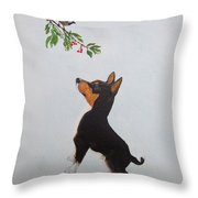 Birdwatching Throw Pillow