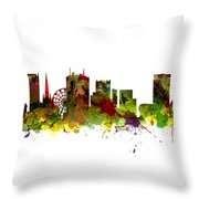 Birmingham Uk City Skyline Throw Pillow