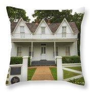 Birth Home Of Dwight D Eisenhower - Denison Texas Throw Pillow