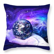 Birth Of A Planet Throw Pillow