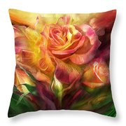 Birth Of A Rose - Sq Throw Pillow