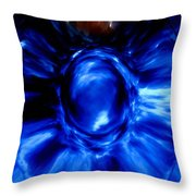 Birth Of Blue Throw Pillow