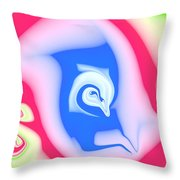 Birth Of The Dolphin Throw Pillow