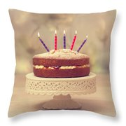 Birthday Cake Throw Pillow