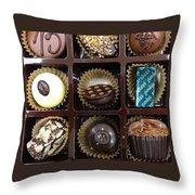 Birthday Chocolates Throw Pillow