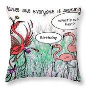 Birthday Dance Throw Pillow
