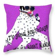 Birthday Mama Throw Pillow