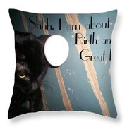 Birthing A Great Idea Throw Pillow