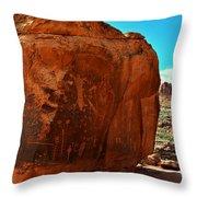 Birthing Rock Throw Pillow