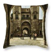 Bisagra Gate And Courtyard Throw Pillow