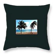 Biscayne Bay Florida Throw Pillow