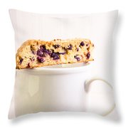 Biscotti And Coffee Throw Pillow