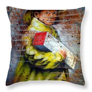 Biscuit Boy Throw Pillow