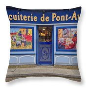 Biscuiterie In Pont Avon Throw Pillow