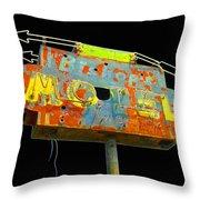 Bishop's Motel - Black Throw Pillow