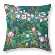 Bisset Park Hibiscus Throw Pillow