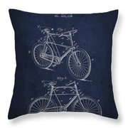 Bisycle Patent Drawing From 1898 Throw Pillow