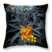 Bits Of Gold Throw Pillow